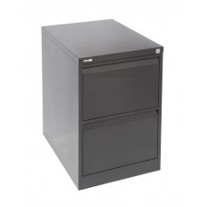 Go 2 Drawer Filing Cabinet Black Ripple