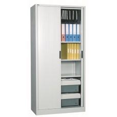 Go Tambour Door Cupboard 1981 x 900mm - No Shelves