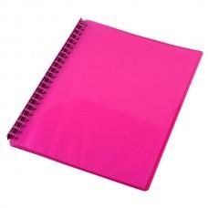 Cumberland Display Book A4 Refillable Gloss Pink
