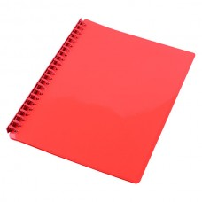 Cumberland Display Book A4 Refillable Gloss Red