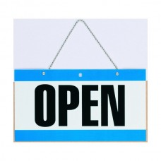 Headline Open and Closed Sign with Chain