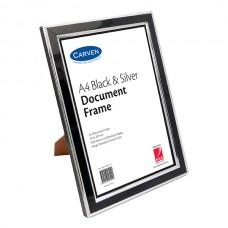 Carven A4 Black & Silver Document Frame