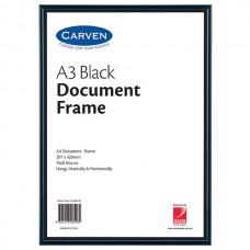 Carven A3 Black Document Frame