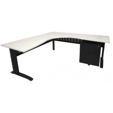 Rapid Span Corner Workstation 1800x1200x700 White Top