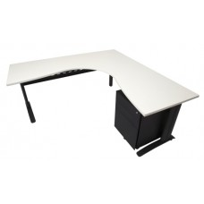 Rapid Span Corner Workstation 1800x1500x700 White Top