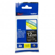 Brother TZ-335 Laminated Tape 12mm White on Black